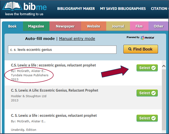 Thing 16–Research and Citation Tools | mbenes22 |Bibme Works Cited